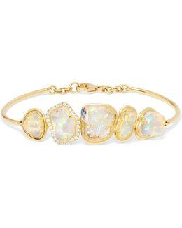 18-karat Gold, Opal And Diamond Bracelet