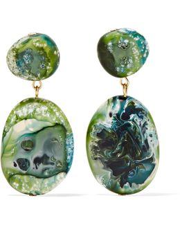 Gold-tone Resin Earrings