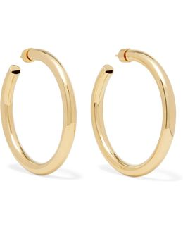 Samira Gold-plated Hoop Earrings
