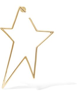 Star Gold-plated Earring