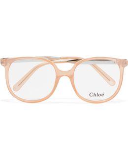 Myrte Square-frame Acetate And Gold-tone Optical Glasses