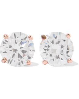 Rhodium-plated Cubic Zirconia Earrings