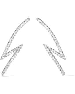 Lightning Bolt Silver-plated Cubic Zirconia Earrings