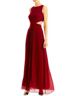 Queen Of The Night Georgette Gown