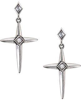 Spike Cross Earrings