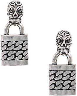 Skull Punk Lock Earrings