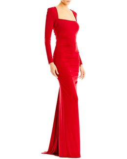 Felicity Long Sleeve Jersey Gown