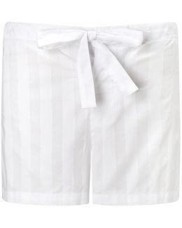 Cotton Striped Pyjama Shorts