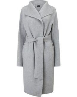 Soft Wool Wrap Coat