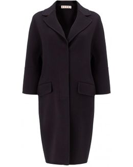 Double Angora And Cashmere Coat