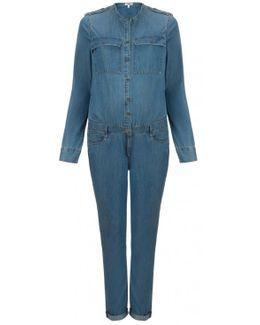 Lexie Long Sleeve Denim Jumpsuit