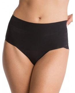 Undie-tectable Smooth Lace Black Knickers