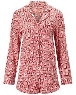 Poppy Snoozing Short Heart Pyjama Set