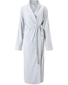 Long Brushed Cotton Robe