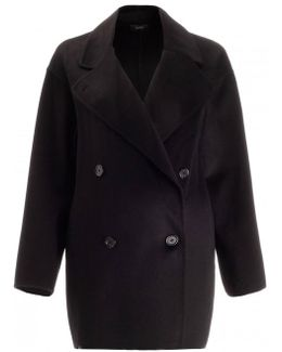 Double Breasted Cashmere Cocoon Coat