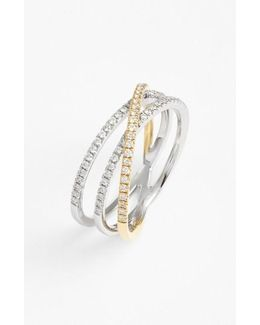 Crossover Three-row Diamond Ring (nordstrom Exclusive)