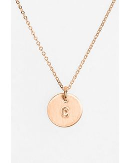 14k-rose Gold Fill Initial Mini Disc Necklace