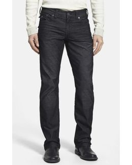 'ricky' Relaxed Straight Leg Corduroy Pants