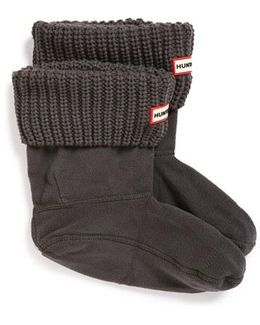 'half Cardigan' Fleece Boot Socks