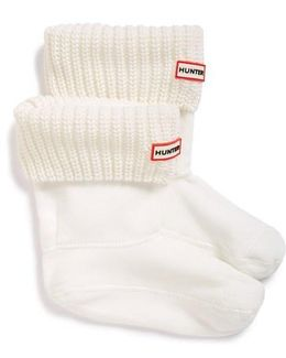 'half Cardigan' Fleece Boot Socks