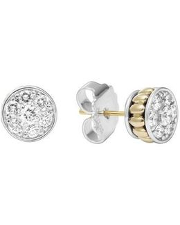 Diamond & Caviar Stud Earrings