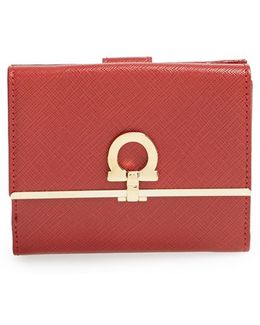 'french Icona' Saffiano Calfskin Leather Wallet