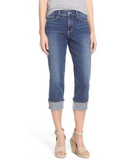 'dayla' Colored Wide Cuff Capri Jeans