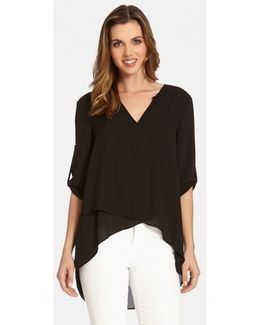 Asymmetrical Wrap Hem Top