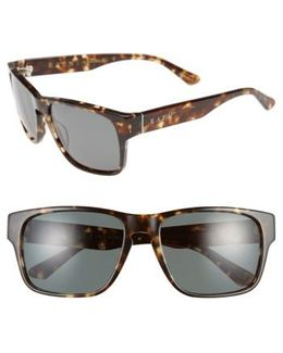 'yuma' 57mm Sunglasses - Brindle Tortoise