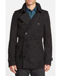 Sandringham'Short Double-Breasted Trench Coat