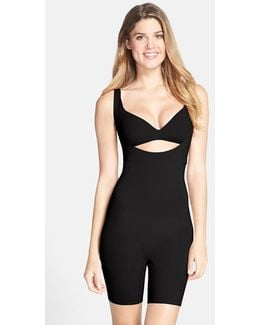 Spanx Open Bust Mid Thigh Shaper Bodysuit
