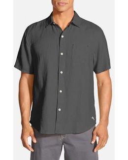 'seaglass Breezer' Short Sleeve Linen Sport Shirt