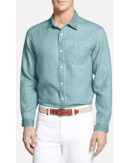 'sea Glass Breezer' Linen Sport Shirt