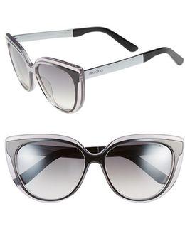 'cindy' 57mm Retro Sunglasses