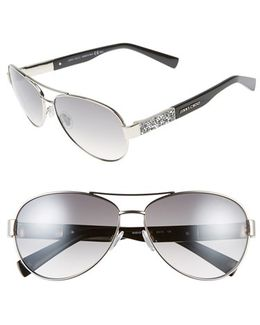 'babas' 59mm Aviator Sunglasses - Palladium