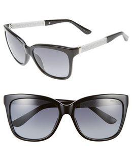 'coras' 56mm Retro Sunglasses