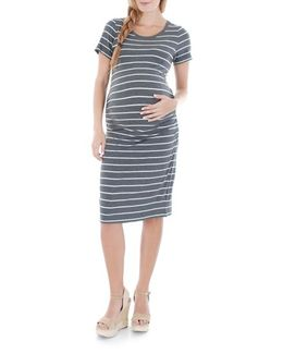Camila Striped Jersey Maternity Dress