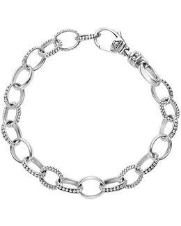 'link' Caviar Chain Bracelet