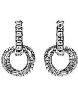 'link' Circle Drop Earrings