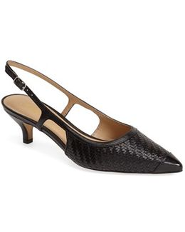 'kimberly' Woven Leather Slingback Pump
