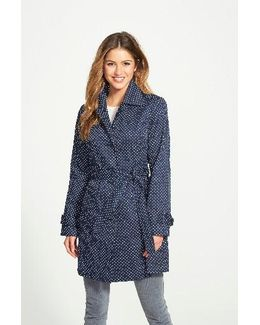 Polka Dot Single Breasted Trench Coat
