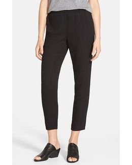 Tapered Organic Cotton Ankle Pants