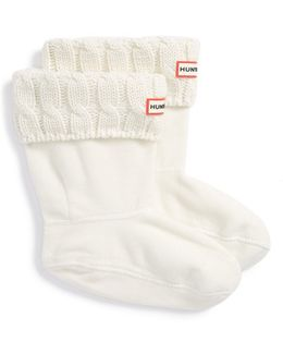 Original Short Cable Knit Cuff Welly Boot Socks