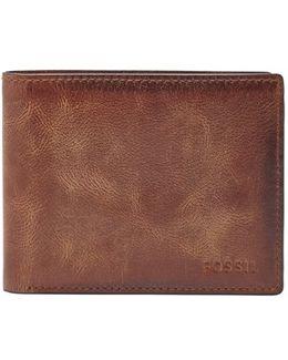 'derrick' Rfid Leather Bifold Wallet