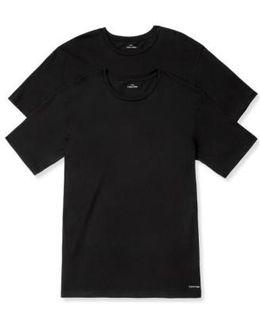 2-pack Cotton T-shirt, Black