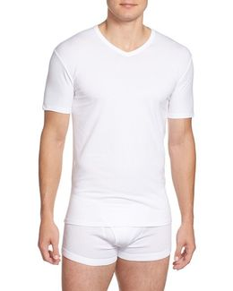 2-pack Stretch Cotton T-shirt, White