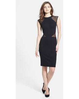 'viven' Mesh Inset Body-con Dress