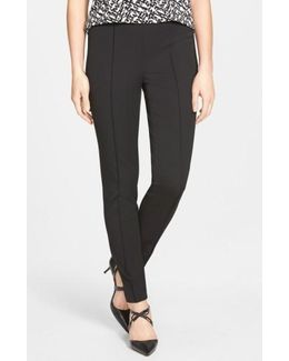 Side Zip Stretch Twill Pants