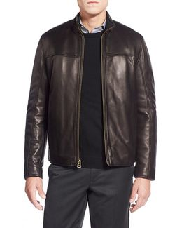 Lambskin Leather Car Coat