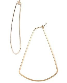 Ija Triangle Hoop Earrings